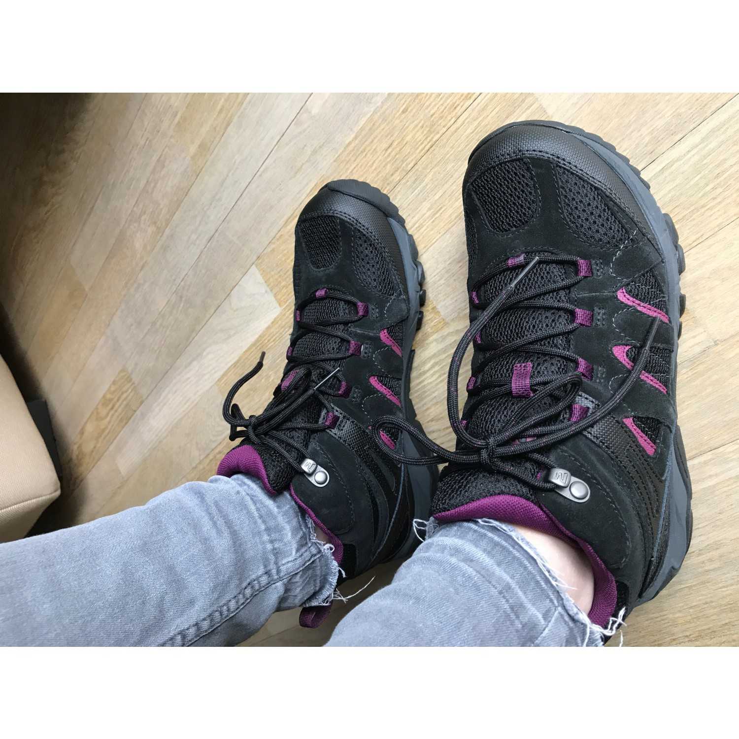 Black Merrell Womens Outmost Vent Mid GTX Walking Boot