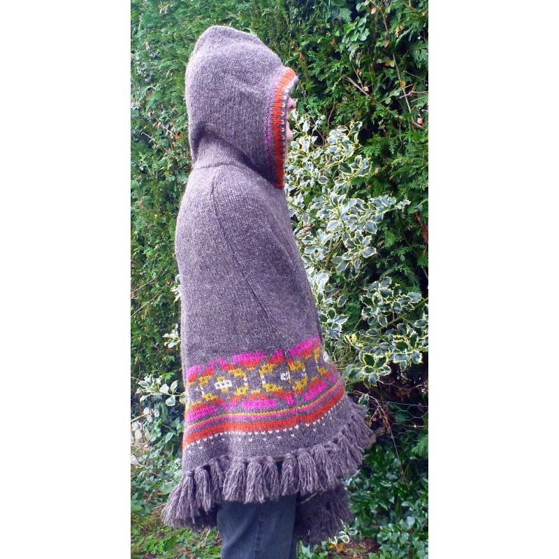 Image 5 from Karen of Sherpa - Women's Samchi Poncho - Wool jacket