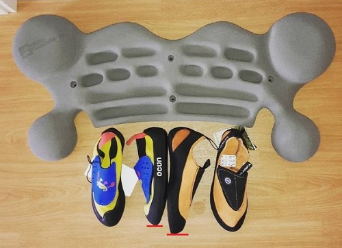 Actual difference in climbing shoe sizes