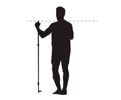 Length of cross-country skiing poles