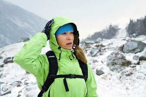 Wind chill can cause hypothermia