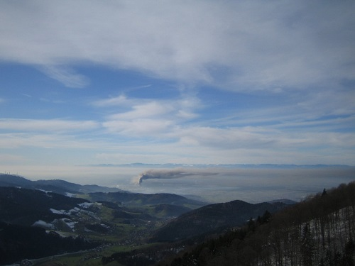 Thermal inversion in the Upper Rhine Valley taken from Kandel.